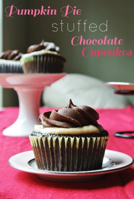 Pumpkin Pie Stuffed Chocolate Cupcakes1