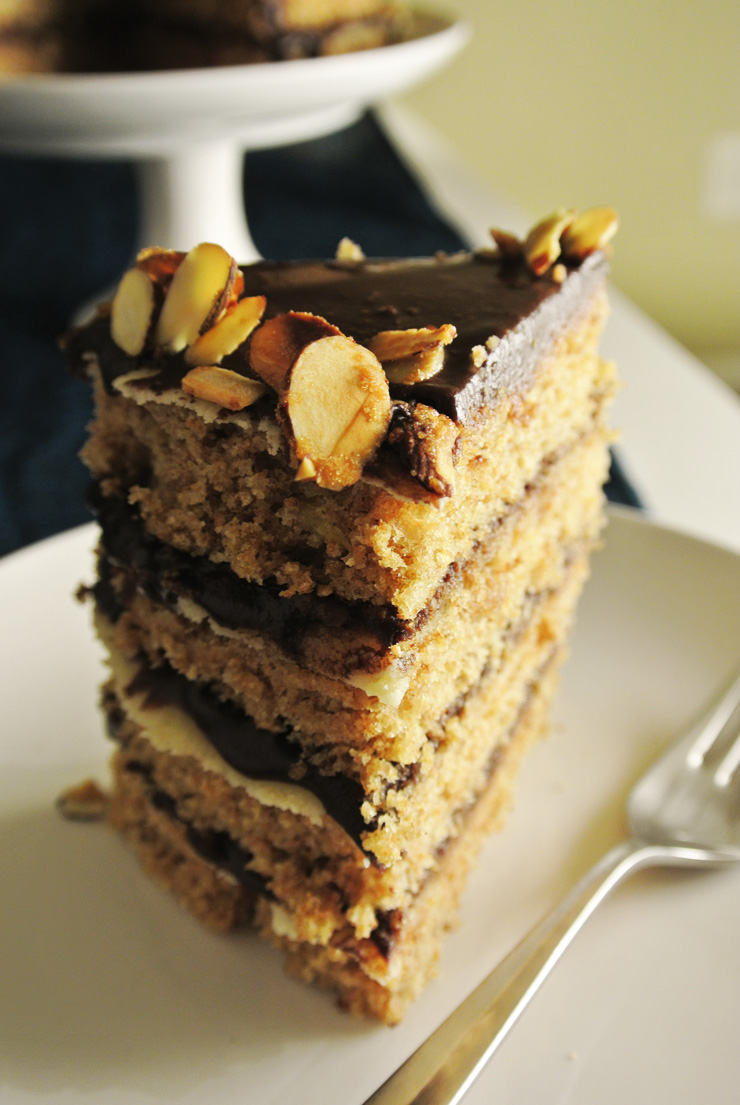 Quadruple Banana Layer Cake with Marzipan and Chocolate Glaze | The ...