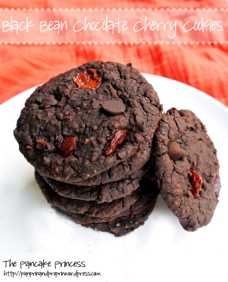 Black Bean Chocolate Cherry Cookies